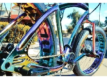 Oil Slick Chrome Fat Tire Beach Cruiser Bike - SOUL STOMPER - 3 speed -  NEW